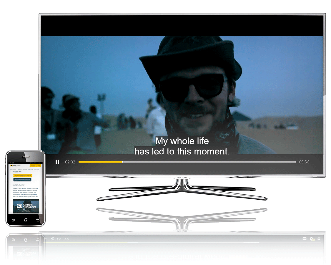 THEOplayer can cast with Chrome with all its features on TV