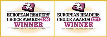 European Readers Choice awards winner twice in a row