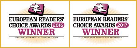 European Readers Choice awards winner twice in a row