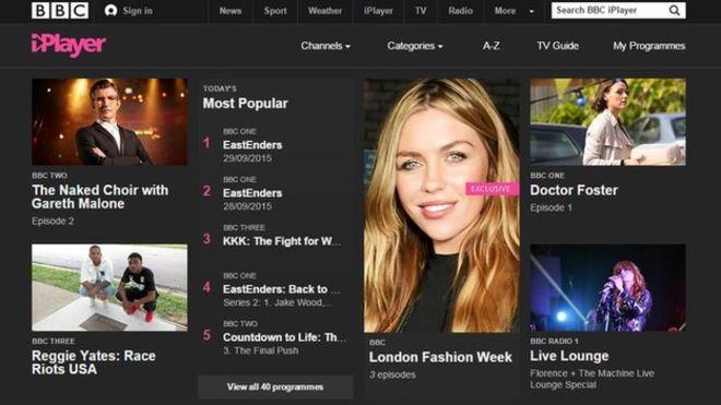 BBC iplayer passes to HTML5