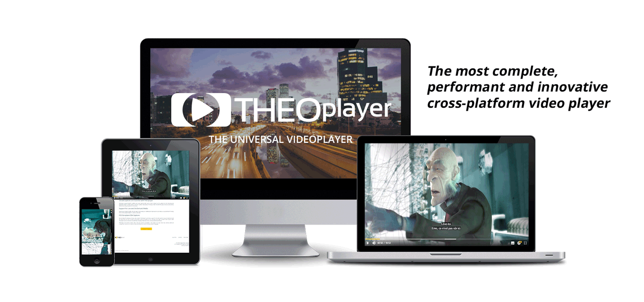 THEOplayer is easily integrated on any platform or device
