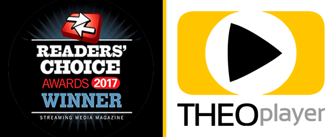Best Video Player SOlution / SDK by Streaming Media Global Readers Choice Award 2017: THEOplayer