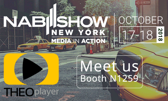 THEOplayer will be at NAB New York 2018