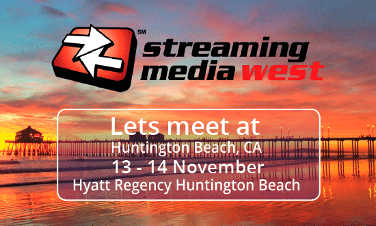 THEOplayer will be at Streaming Media West 2018