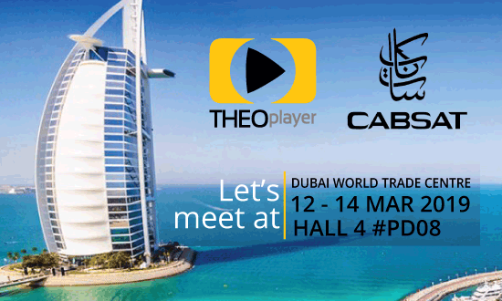 THEOplayer will be at CABSAT 2019