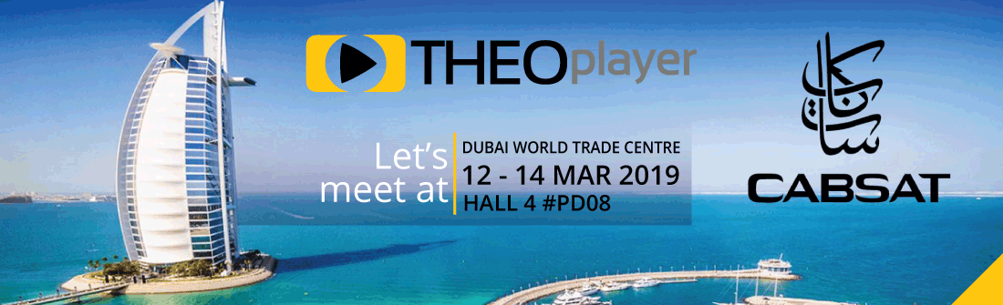THEOplayer is at CABSAT 2019