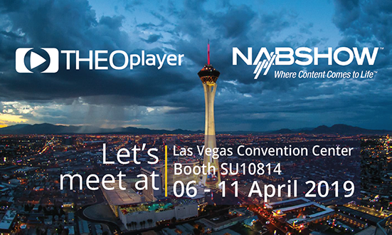 THEOplayer will be at NAB Las Vegas 2019