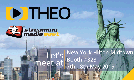 THEOplayer will be at Streaming Media East 2019