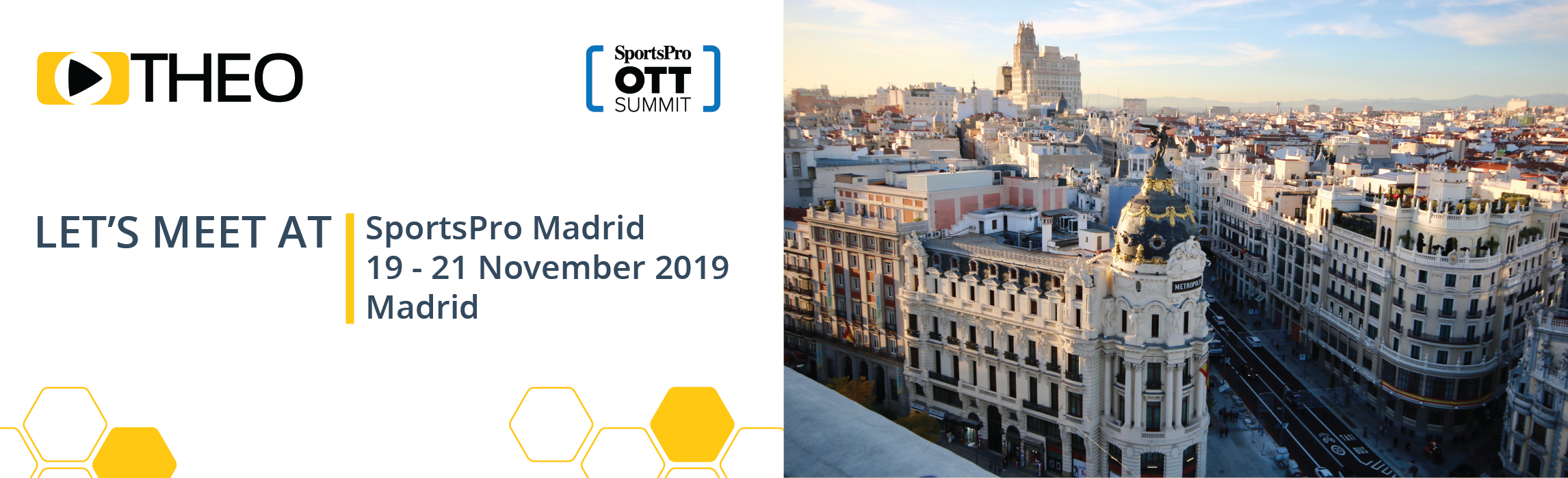 THEO Technologies is attending SportsPro Madrid