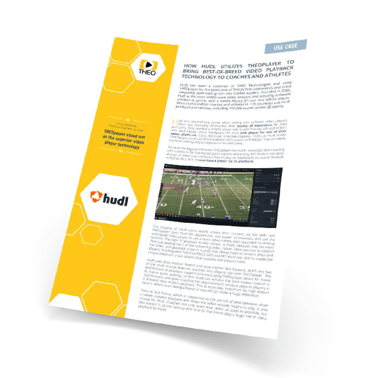 THEOplayer and Hudl bring best-of-breed video playback technology