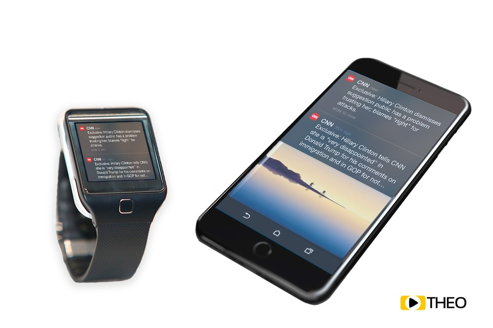 Push Up notifications smartwatch and smartphone