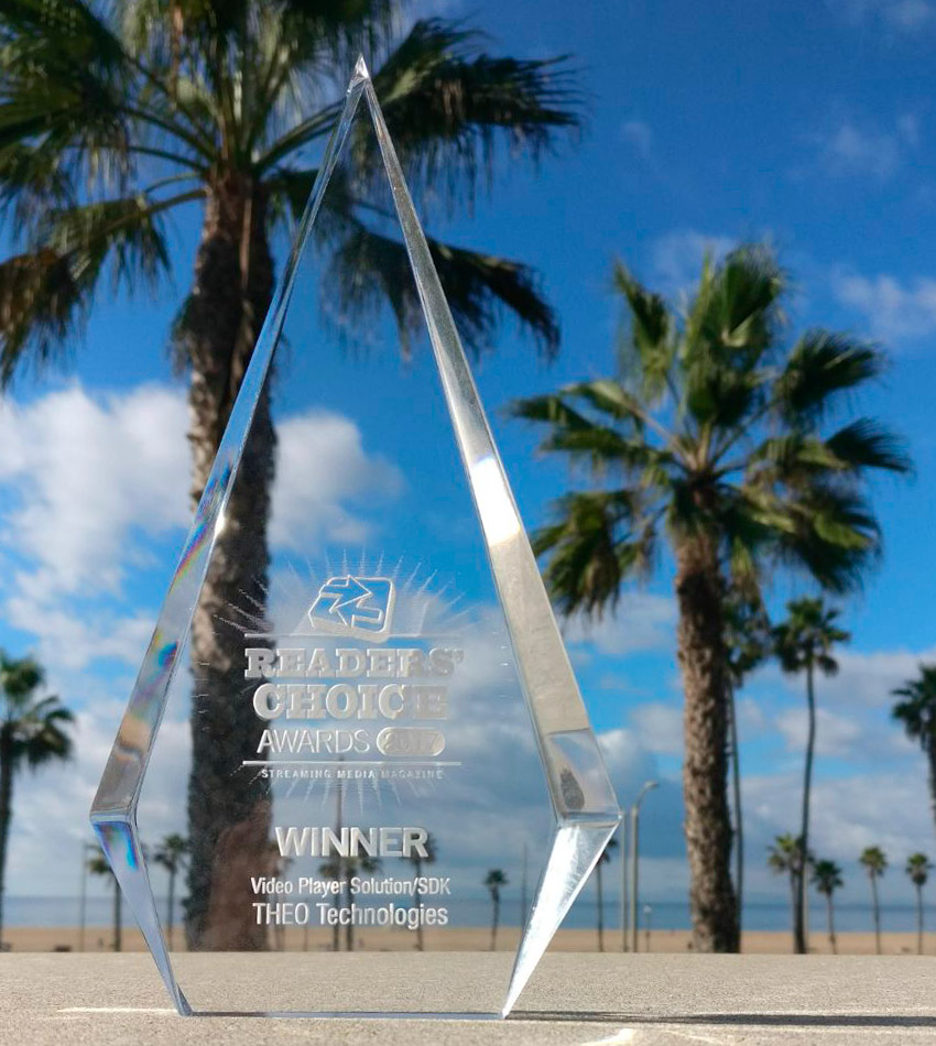THEOplayer wins the Streaming Media Global Readers Choice Awards