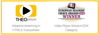 THEOplayer wins the Readers Choice Awards 2016