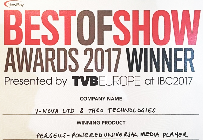 Best of Show Awards at IBC 2017